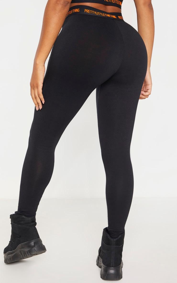 PRETTYLITTLETHING Shape Black Cotton High Waisted Leggings 4