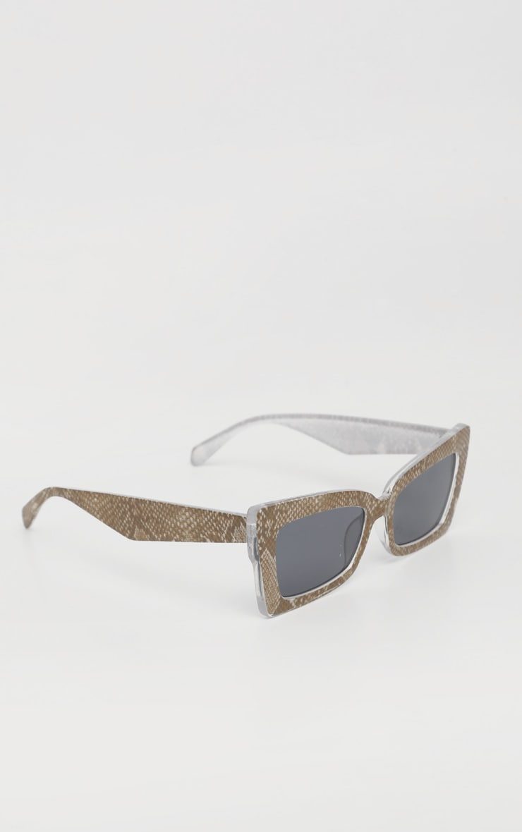 Snake Oversized Angular Square Sunglasses 3
