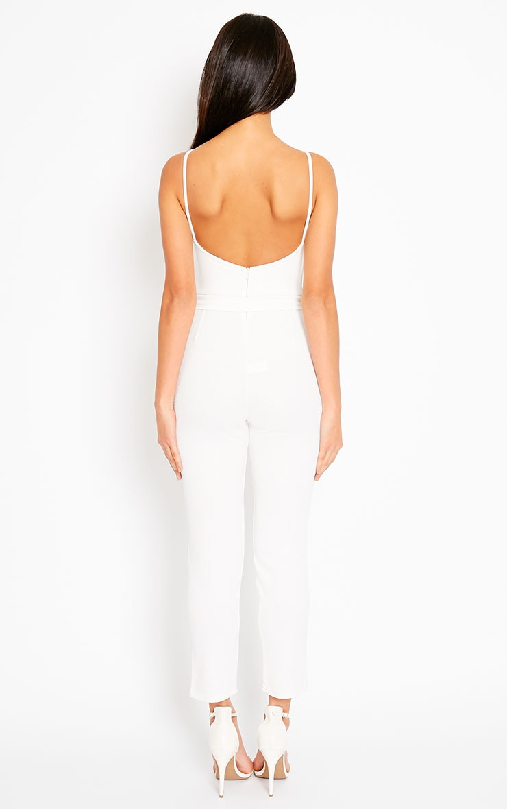 Zelda Cream D-Ring Belt Jumpsuit 2