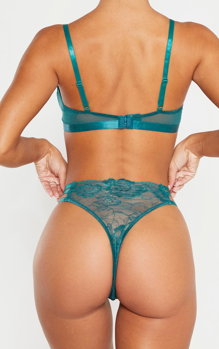 Emerald Strapping Detail Panties 3