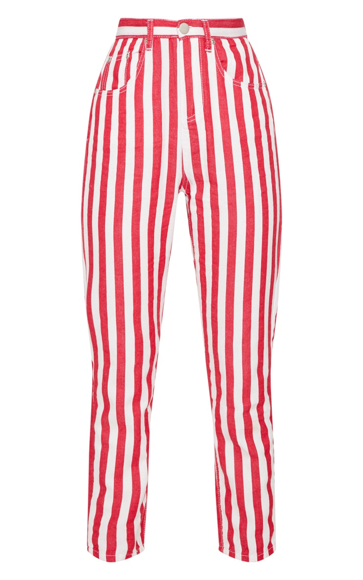 Red Stripe Leg Jeans  3
