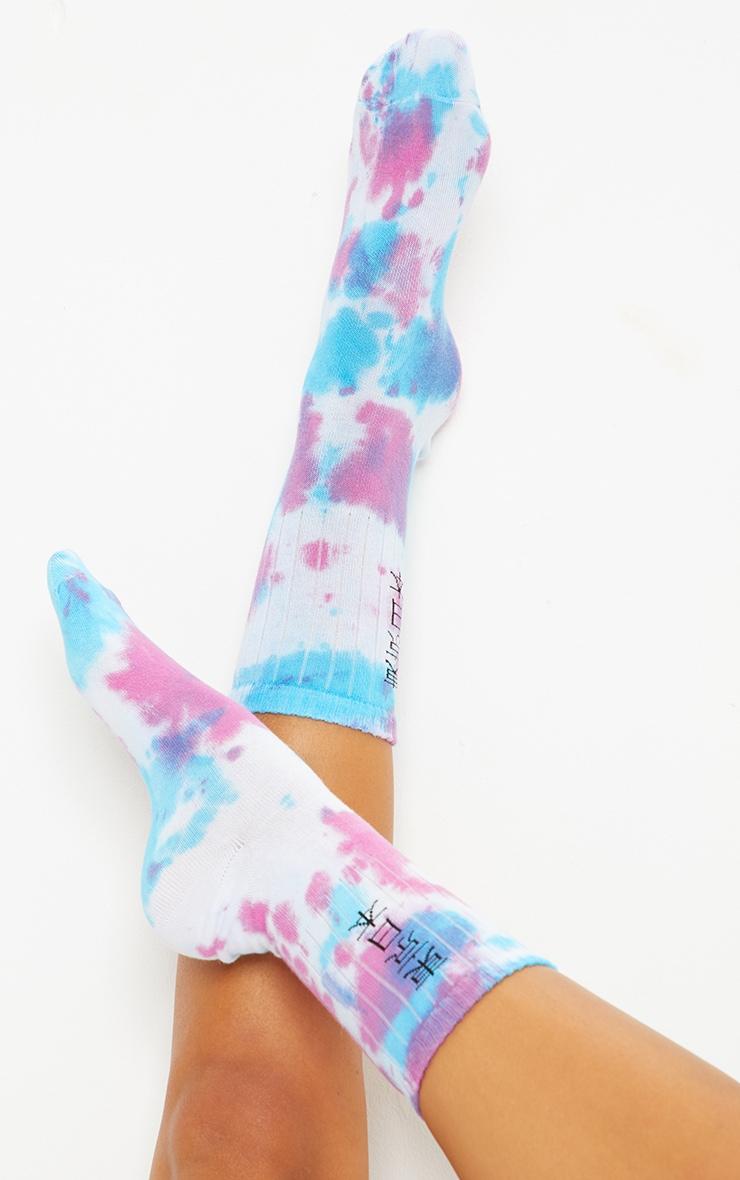 Purple Tie Dye Symbol Socks 1