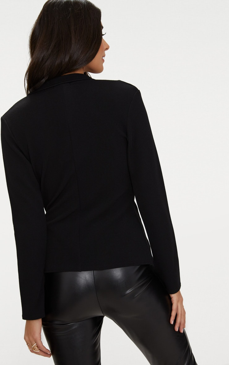 Black Wrap Side D-Ring Blazer 2