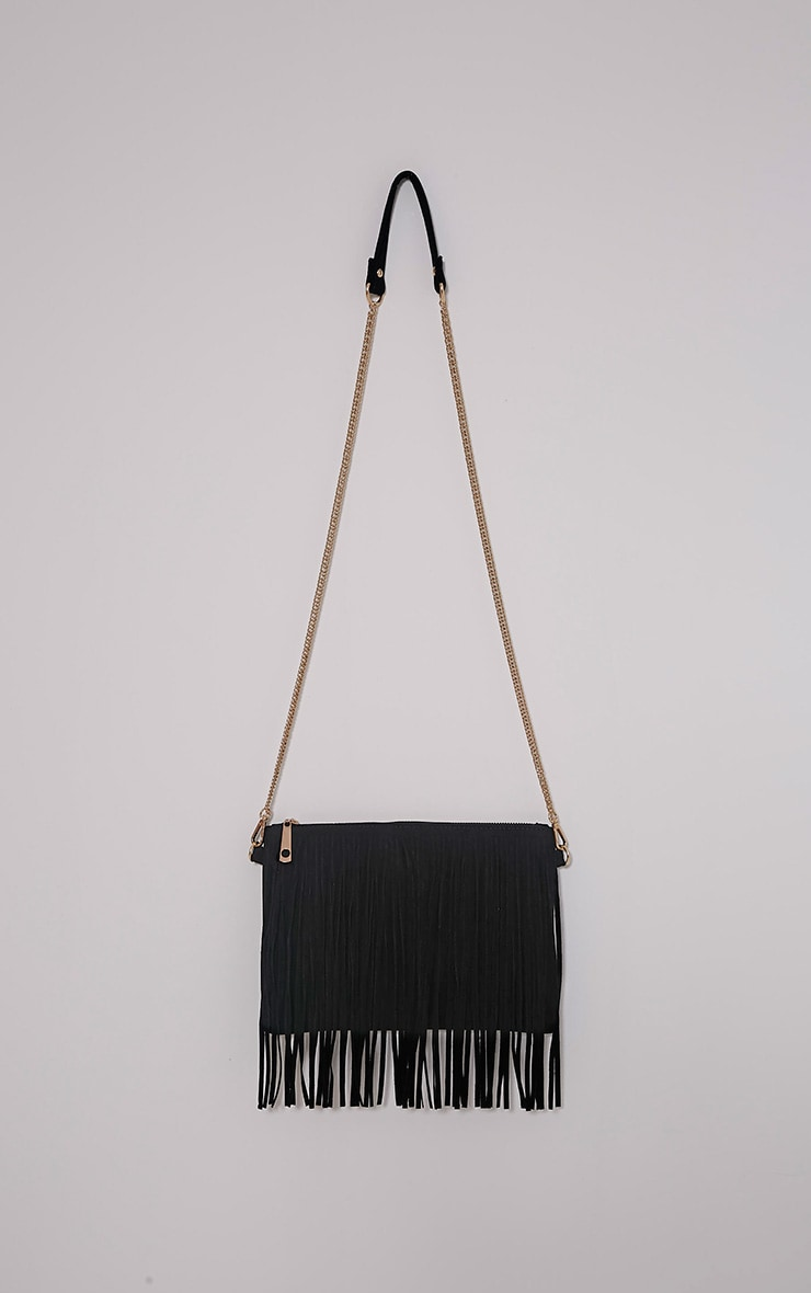 Dany Black Fringe Bag 4