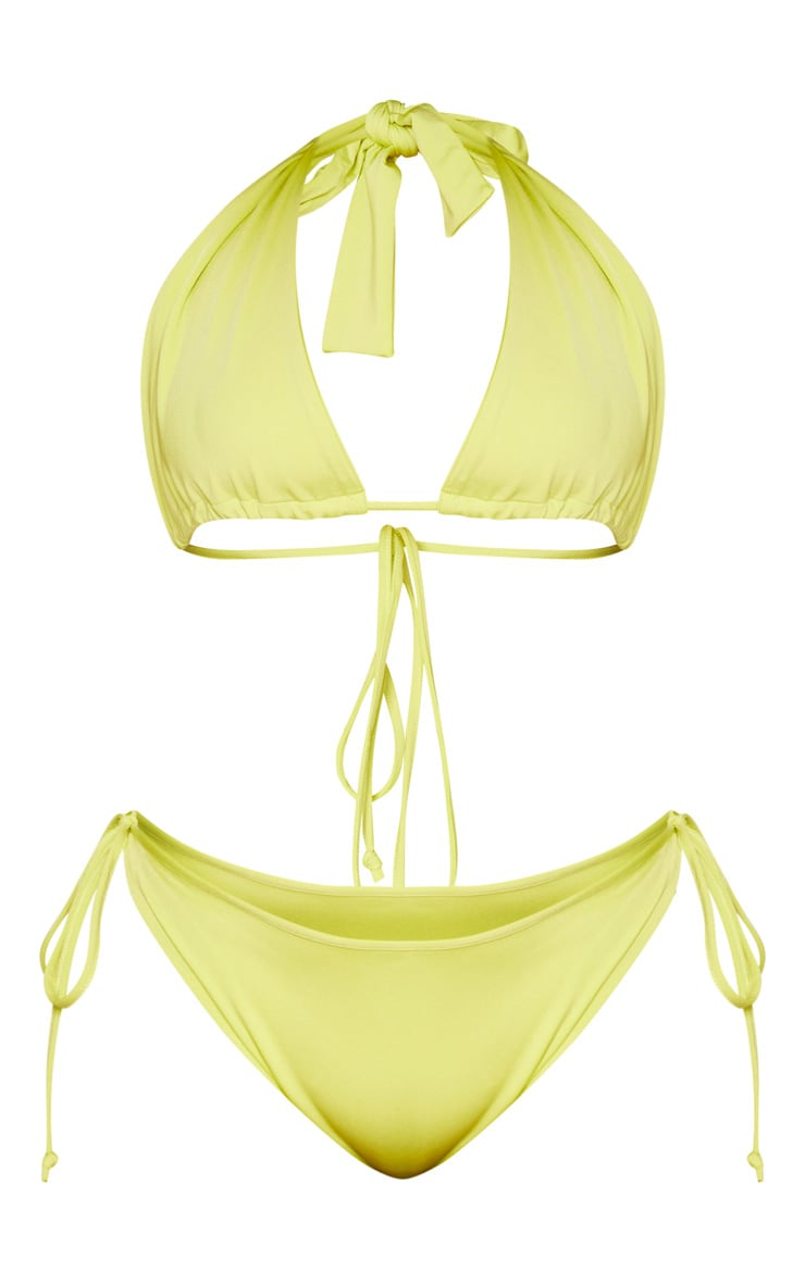 Plus Lime Halterneck Bikini Set 3