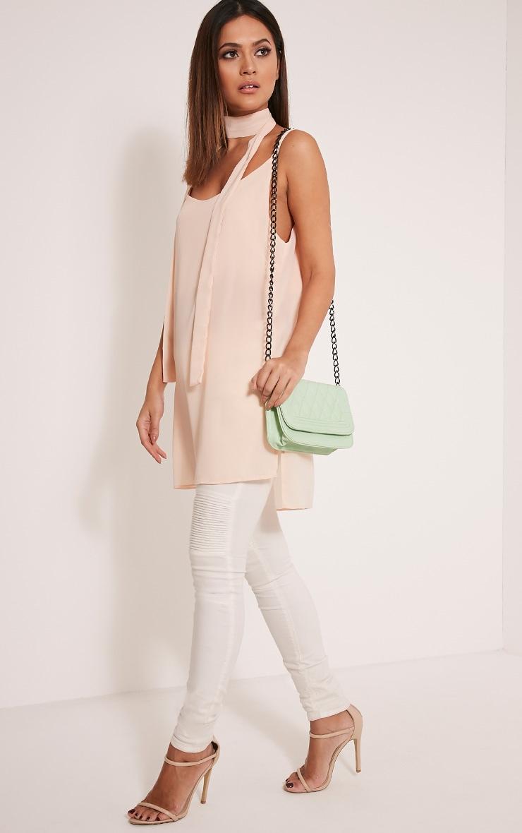 Emma Mint Quilted Chain Strap Shoulder Bag 4