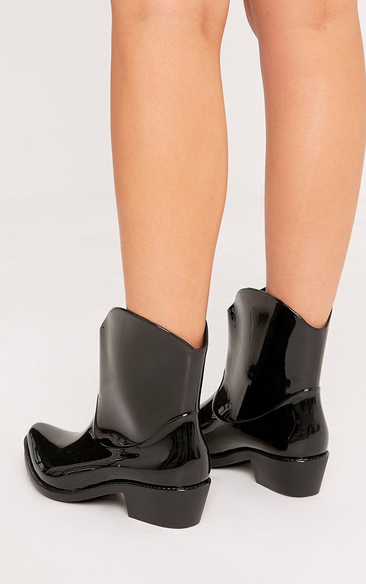 Kendrea Black Cowboy Rain Boots 4