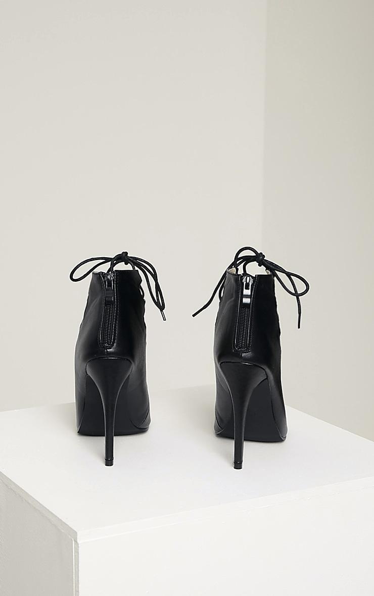 Tiggy Black Lace Up Heeled Sandals 8