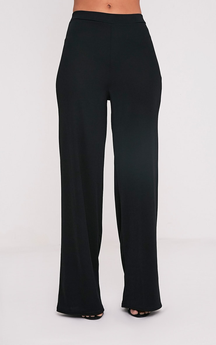 Solomon Black Crepe Pants 2