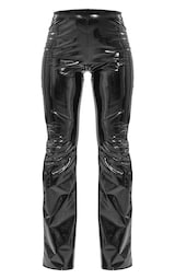 Black Flared Vinyl Trousers 5
