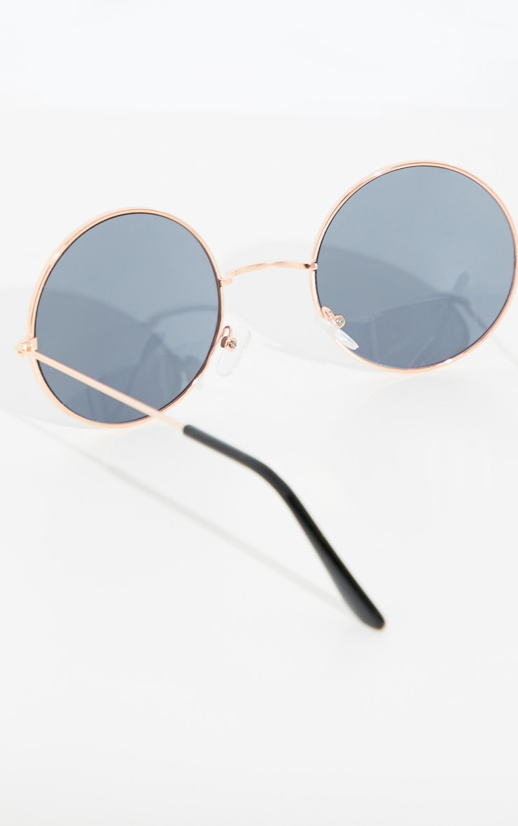 Gold Small Round Sunglasses 4