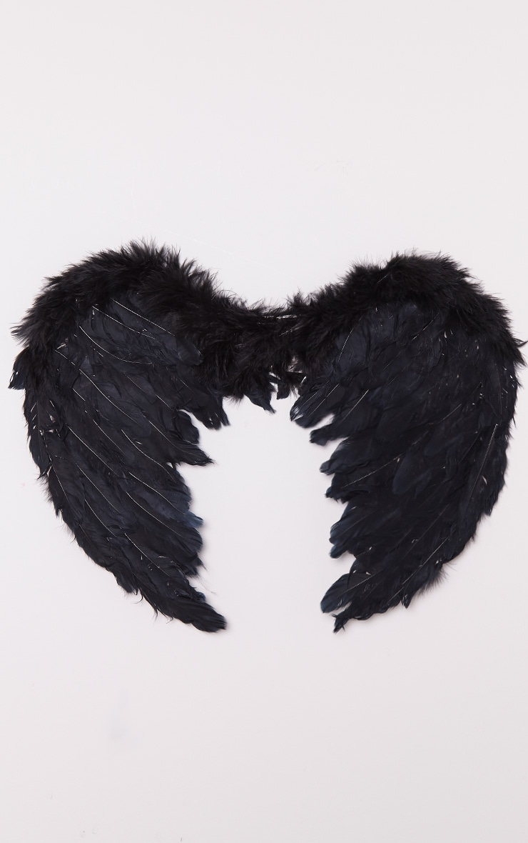 Black Feather Angel Wings 5