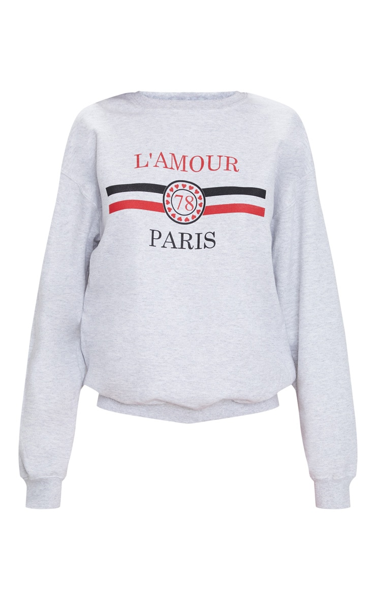 Grey Lamour Slogan Sweater 3