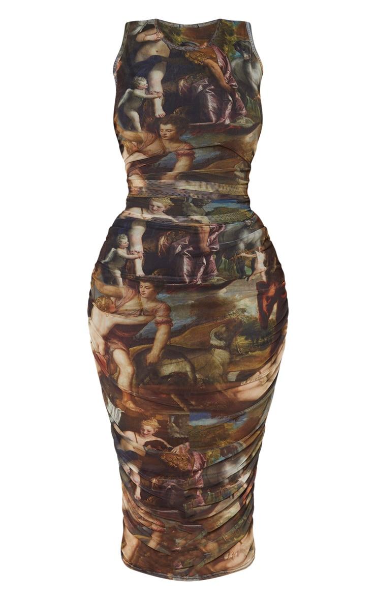 Shape Renaissance Print Sleeveless Midi Dress 3