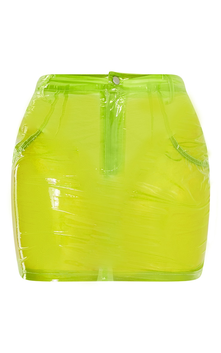 Lime Transparent Mini Skirt 3