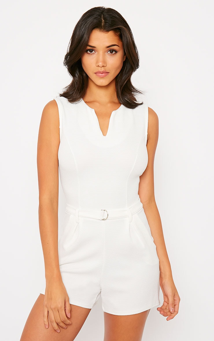 Evie Cream D-Ring Playsuit 4
