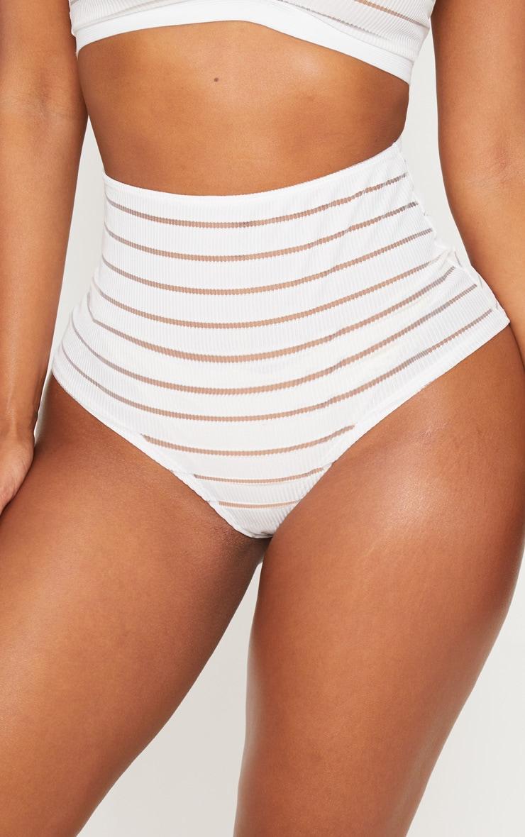 Shape White Burnout Mesh Panties 4