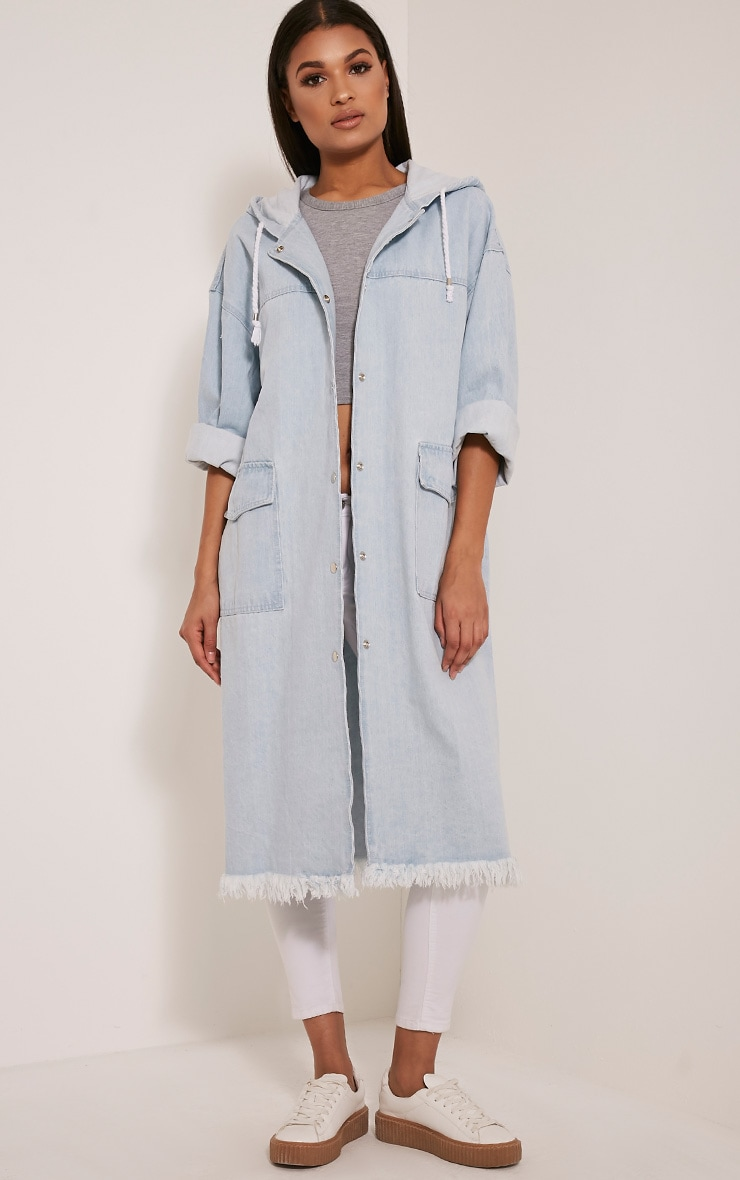 Emmie Light Wash Extreme Oversized Denim Jacket 1