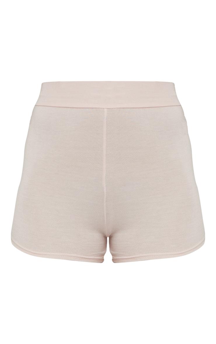 Basic Nude Jersey High Waist Hot Pants 6