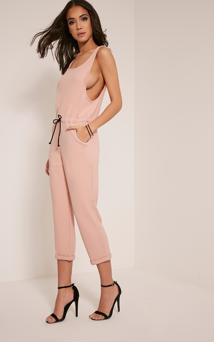Shaya Nude Loose Fit Jumpsuit 4