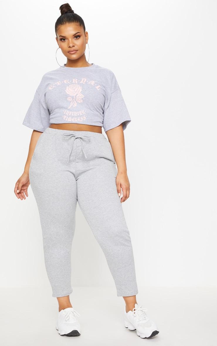Plus Grey Eternal Print T Shirt 3