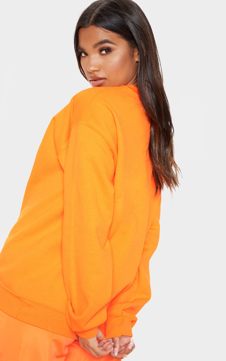Orange Neon Ultimate Oversized Sweater 2