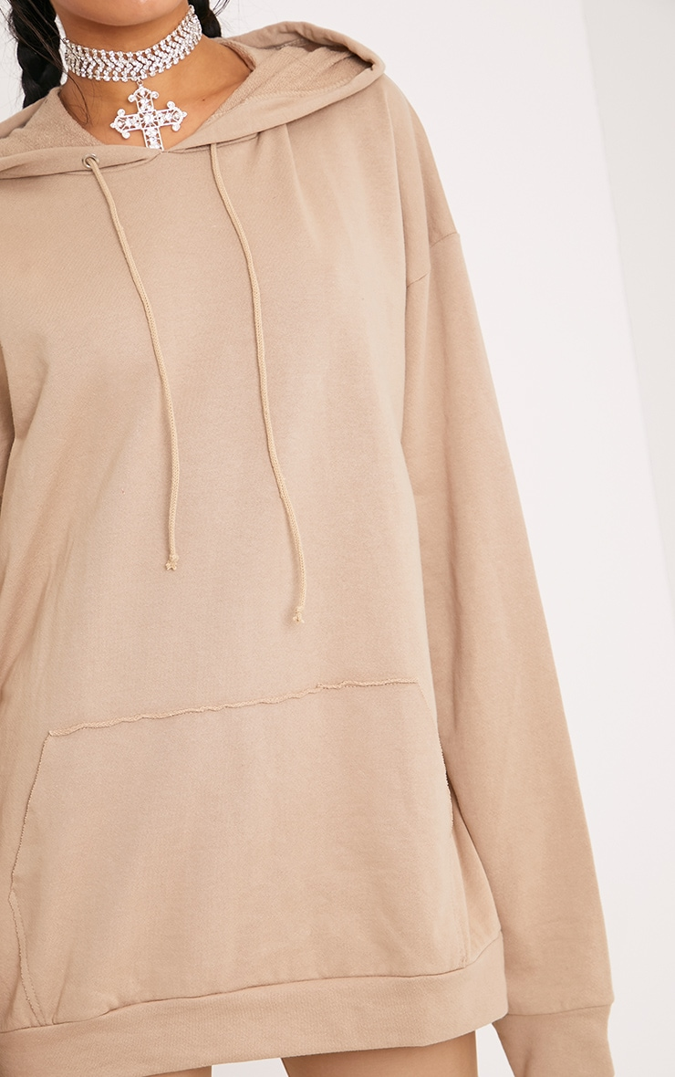 Steph Taupe Oversized Hoodie 5