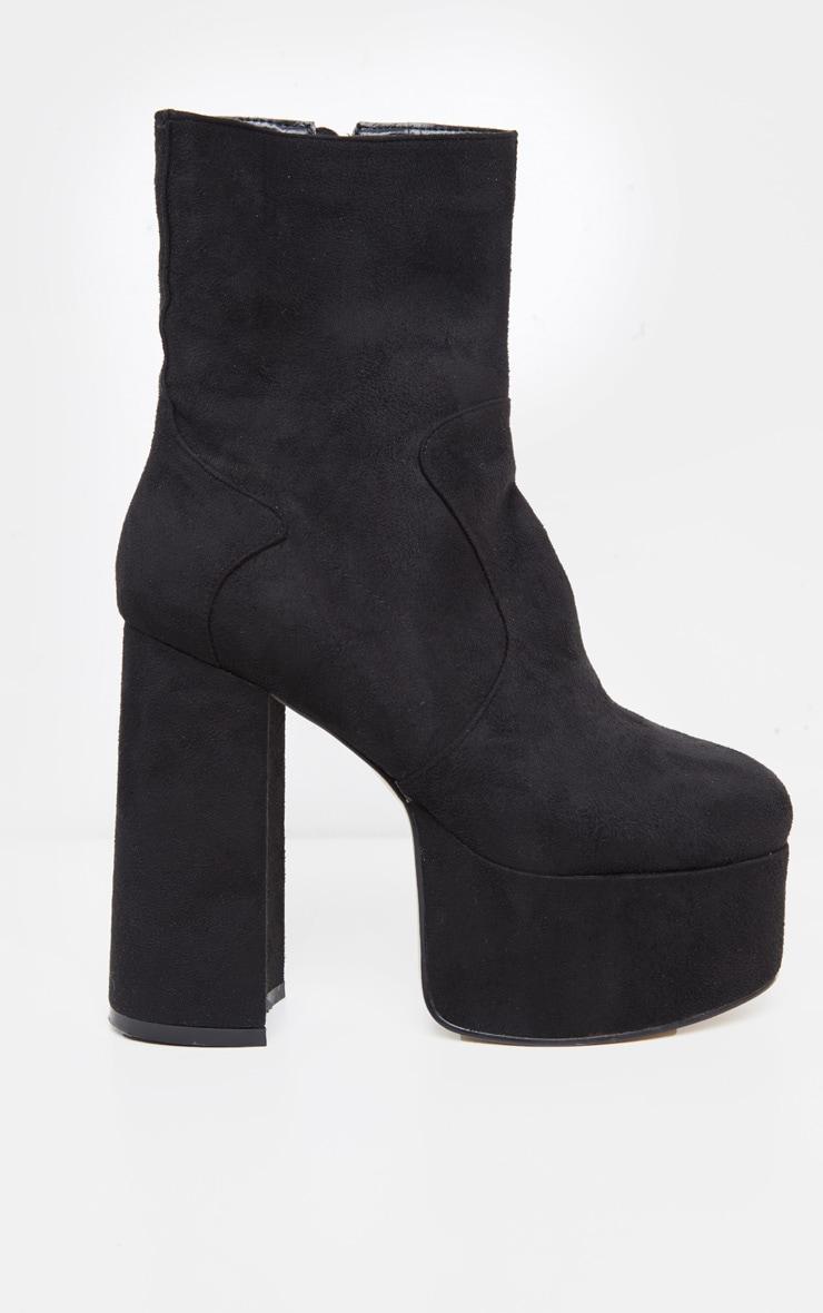 Black High Platform Boot 3