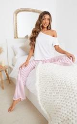 Pyjama bas & top blanc épaules dénudées 3