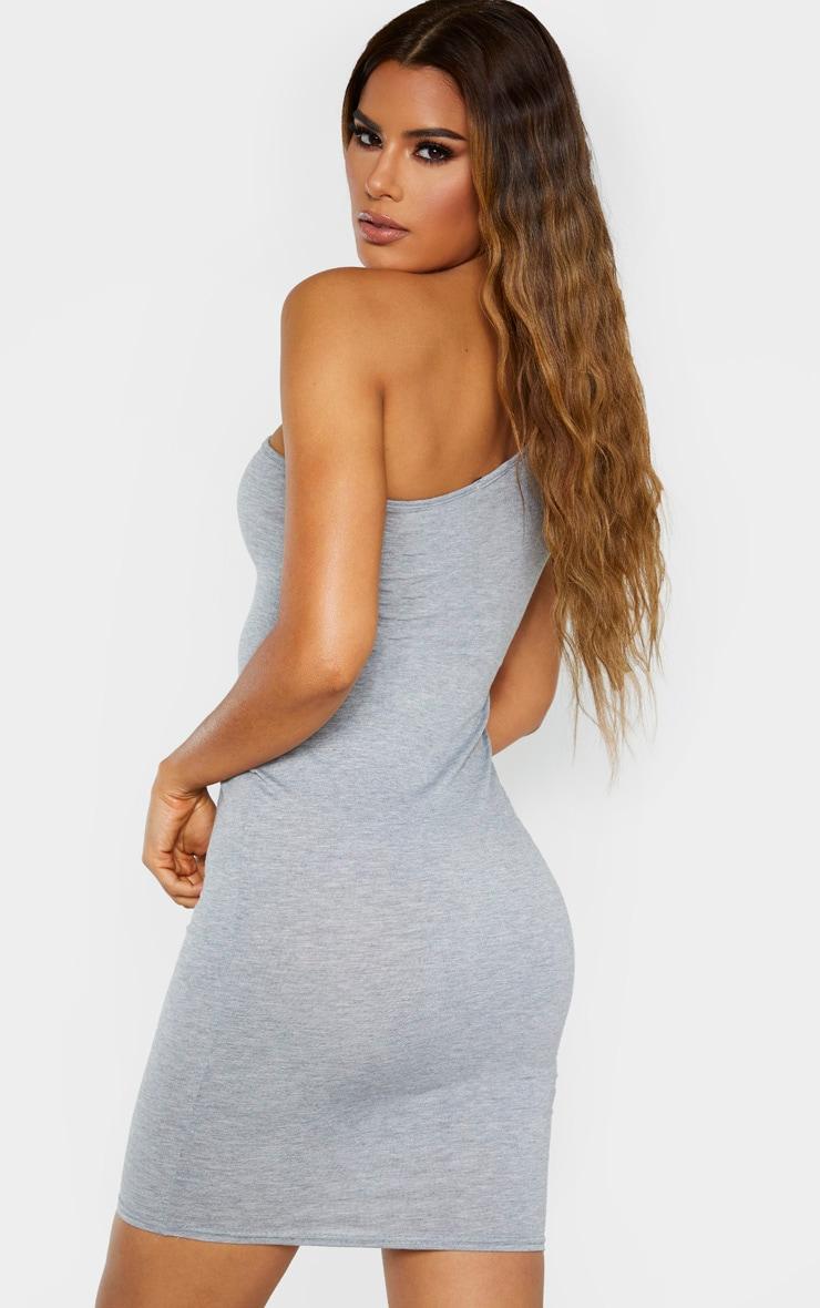 Tall Grey Marl One Shoulder Jersey Mini Dress 3