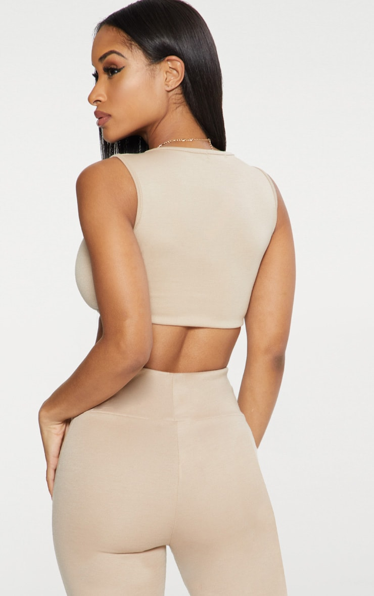 Nude Ponte Scoop Neck Crop Top  2