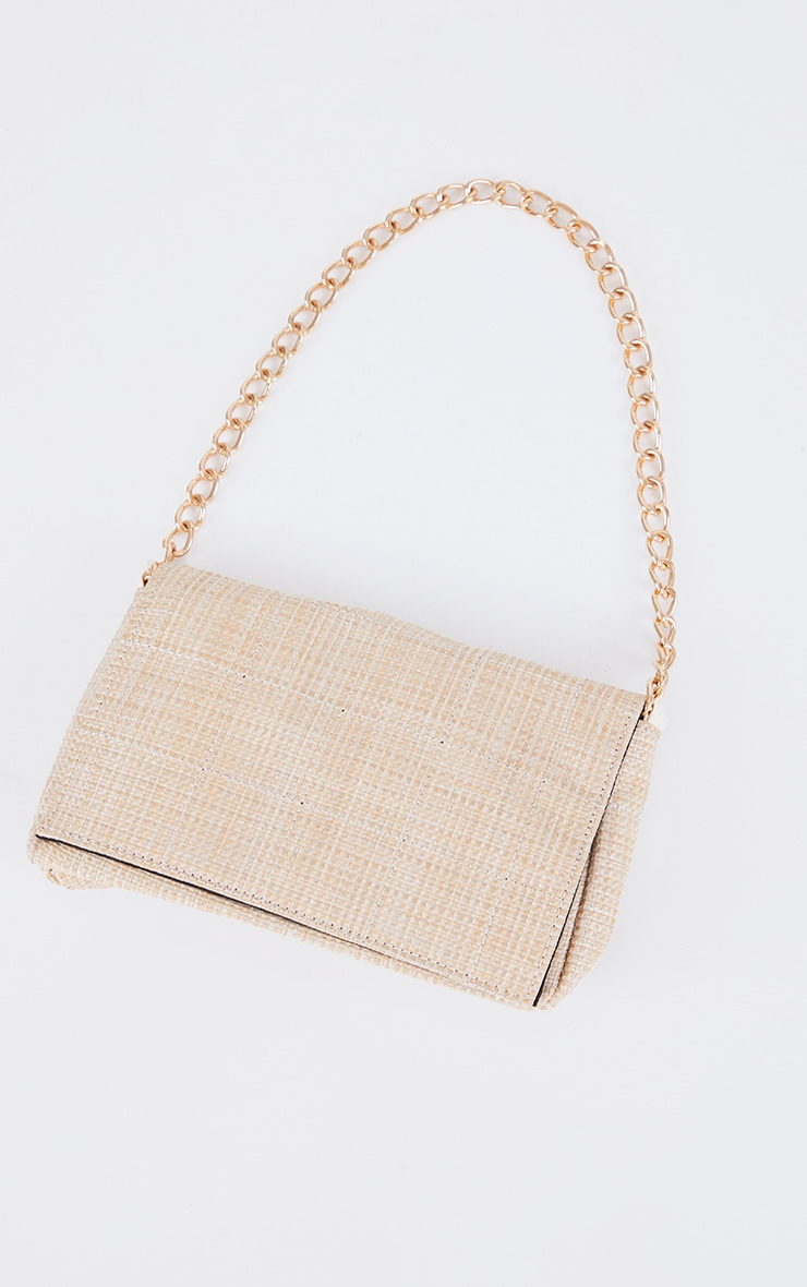 Sand Weave Quilted Cross Body Bag 2