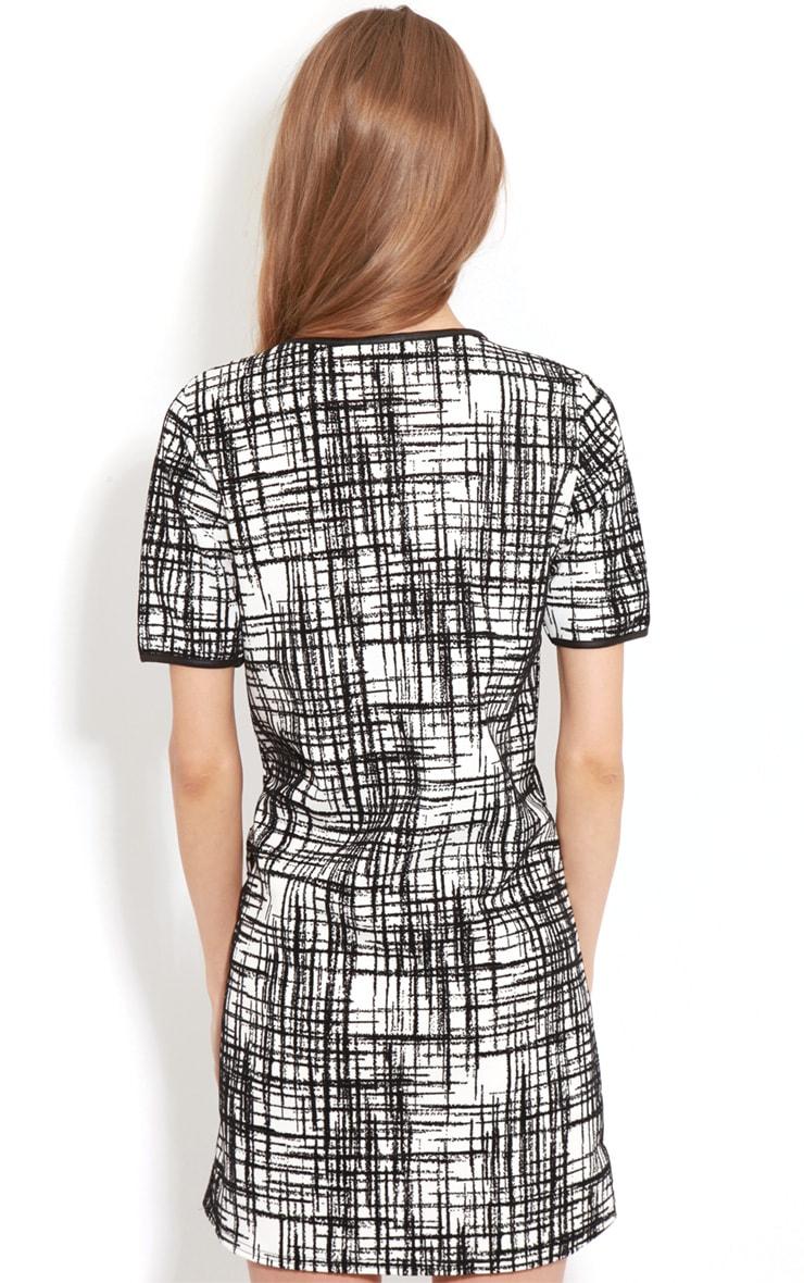 Keaton Black & White Check Shift Dress 2