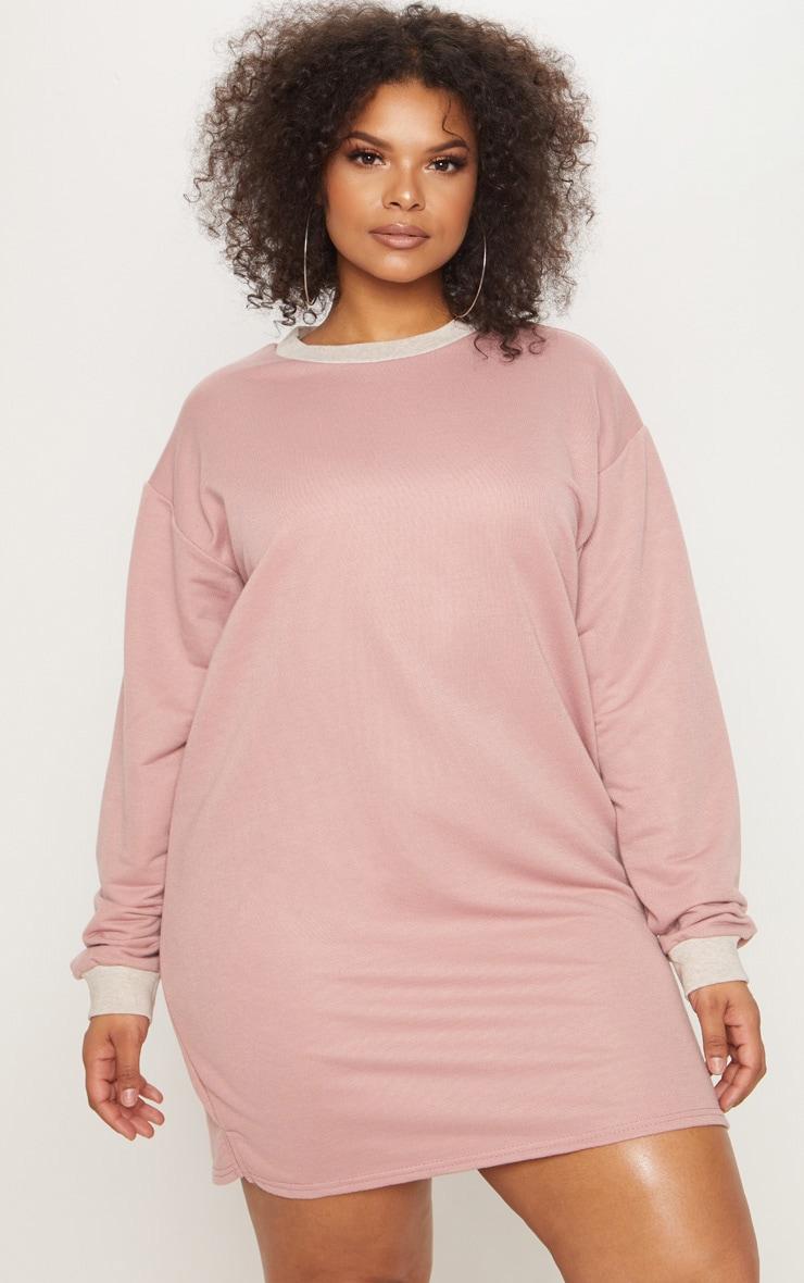 b7b1194d6f2 Plus Pink Oversized Sweater Dress image 1