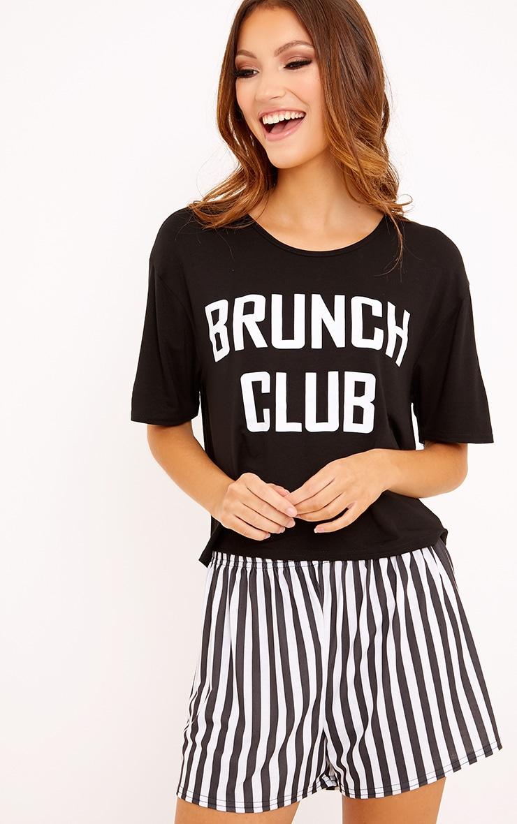 Brunch Club Black PJ Set  1