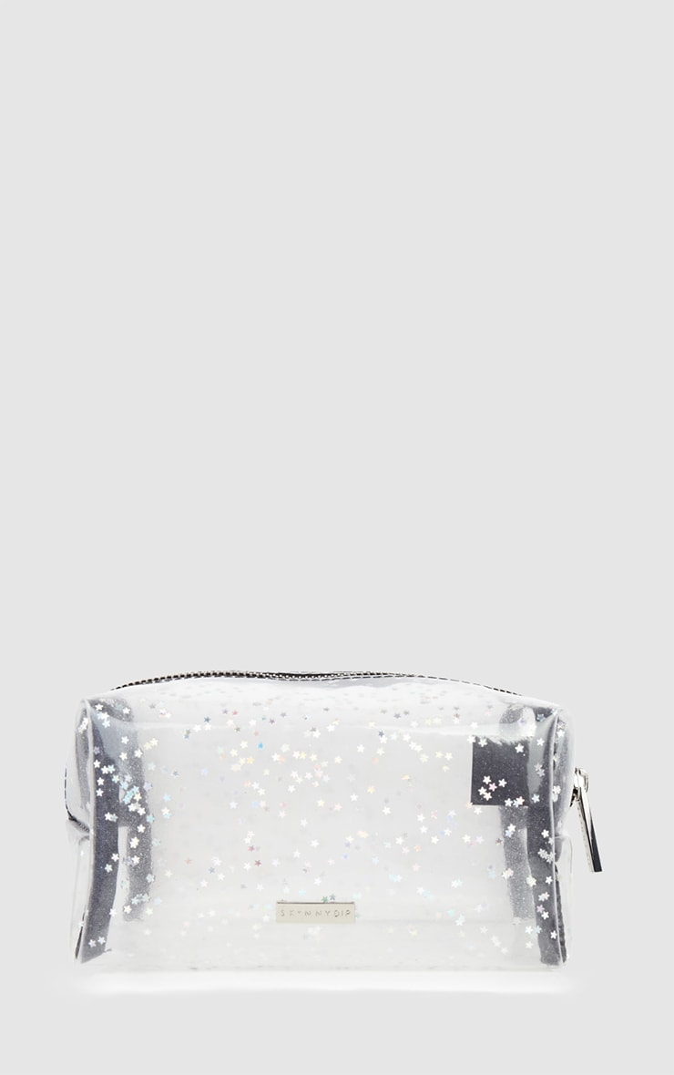 Skinnydip Clear Glitter Make Up Bag 2