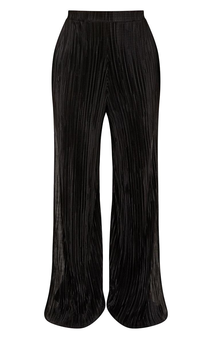 Shape Aniya Black Pleated Wide Leg Trousers  3
