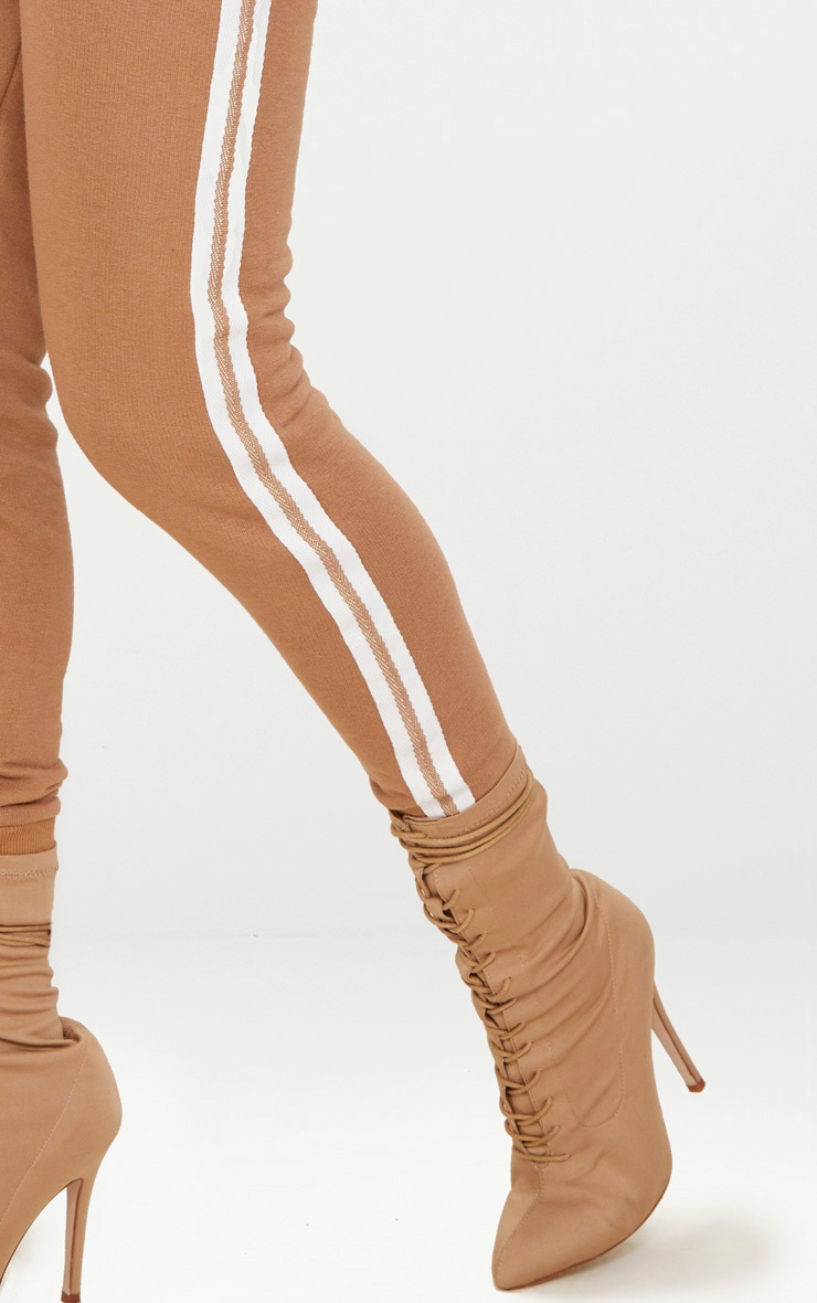 Taupe Side Stripe Joggers 5