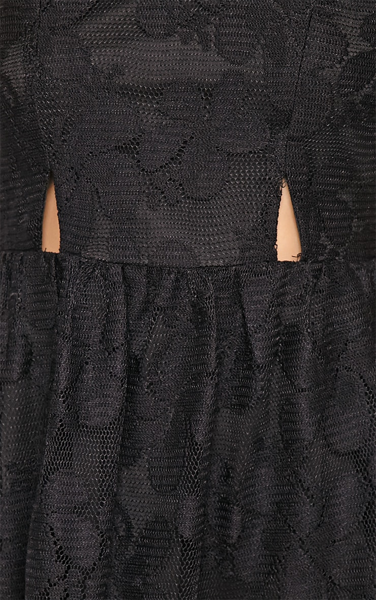 Lissy Black Lace Skater Dress 7
