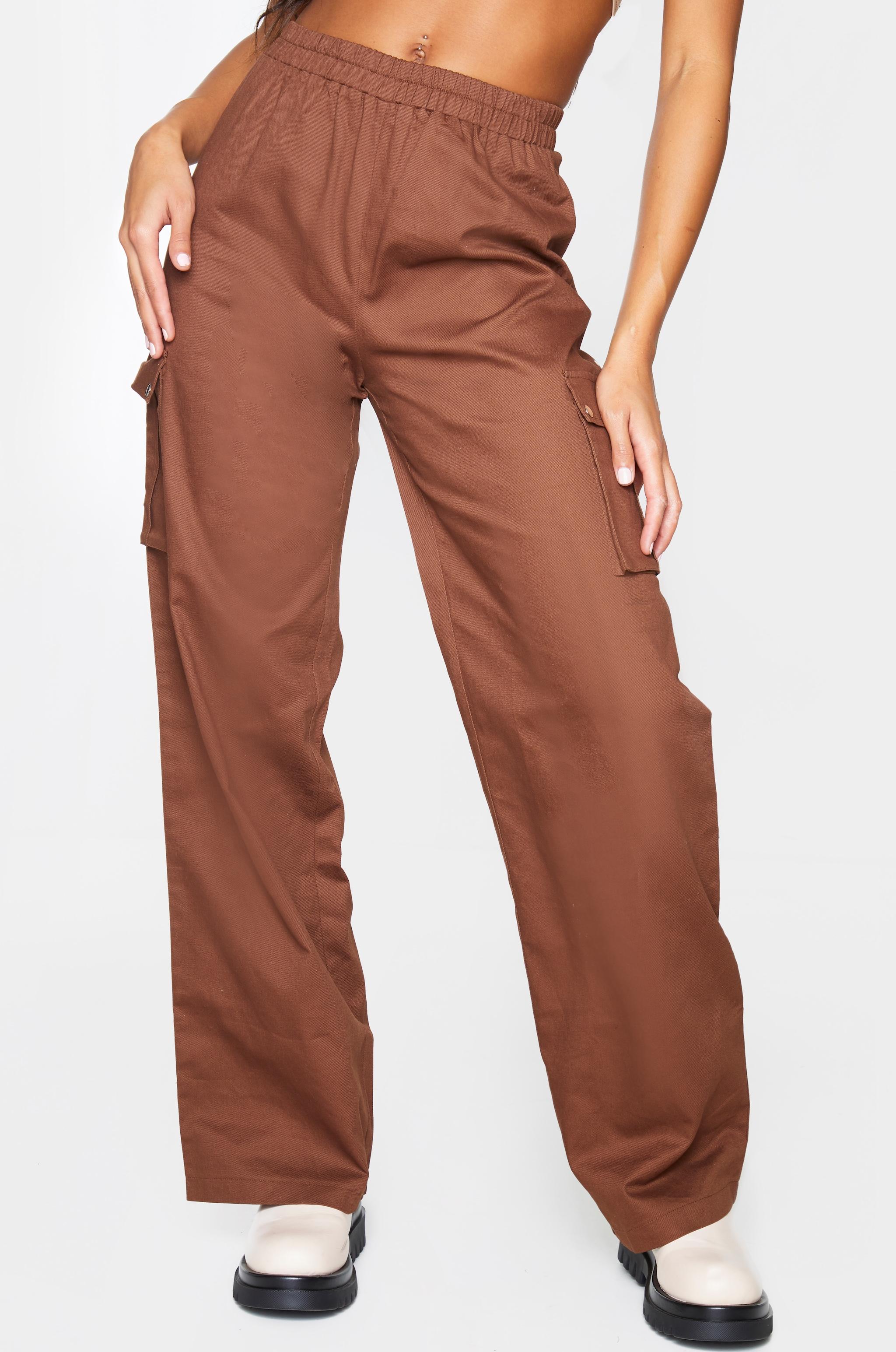 Chocolate Wide Leg Cargo Pants 2