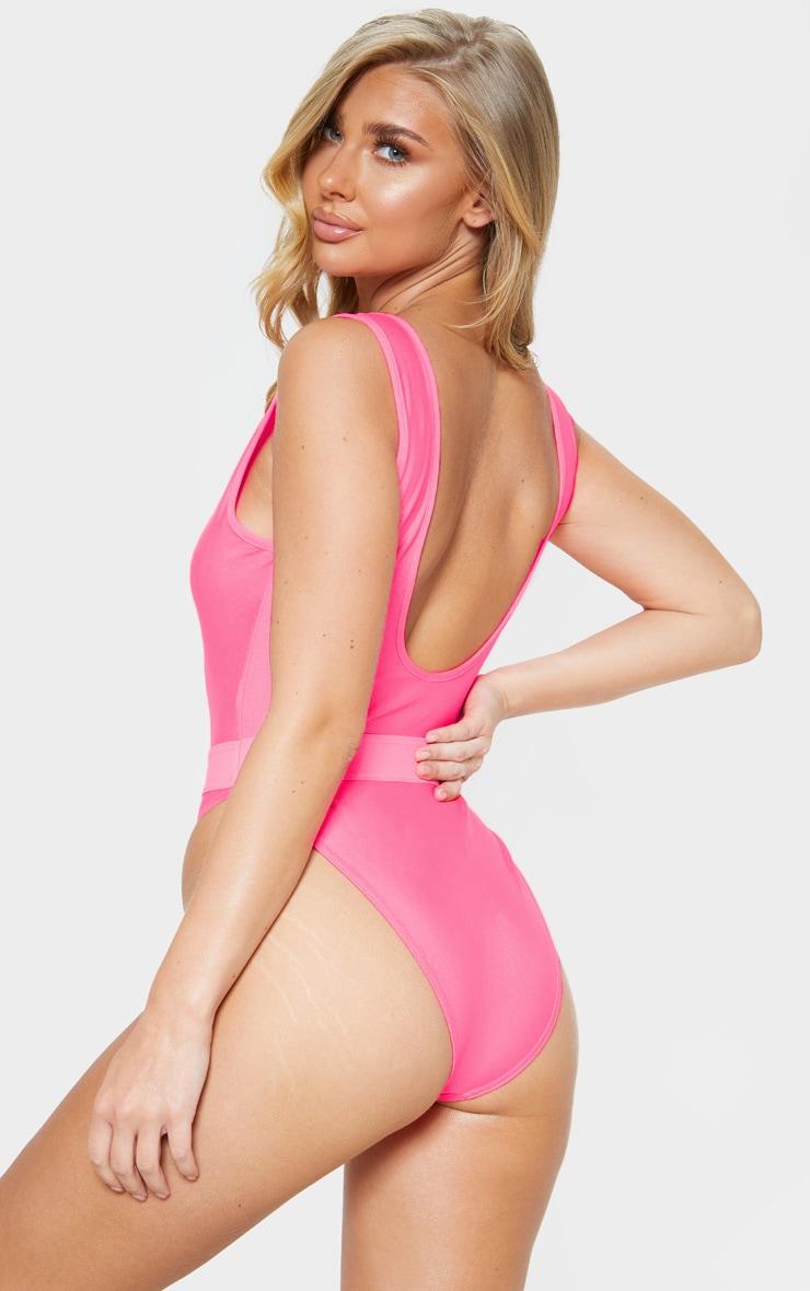 Pink Elasticated Waist Swimsuit 2
