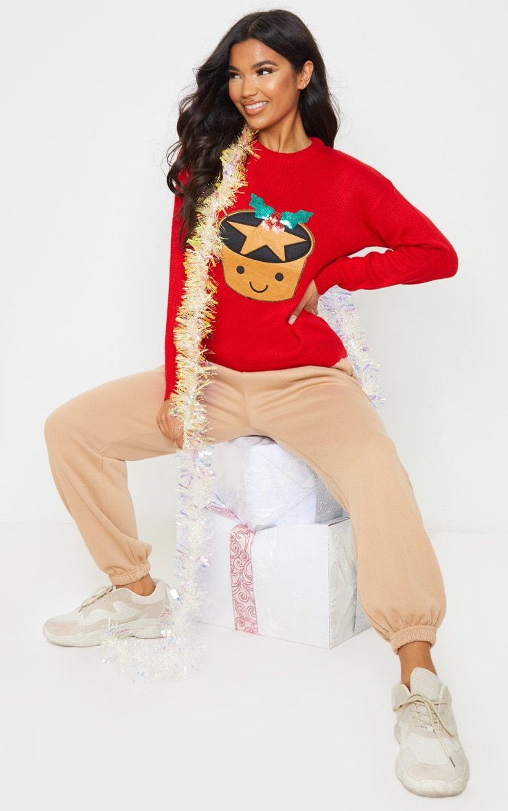 Red Mince Pie Christmas Jumper 4