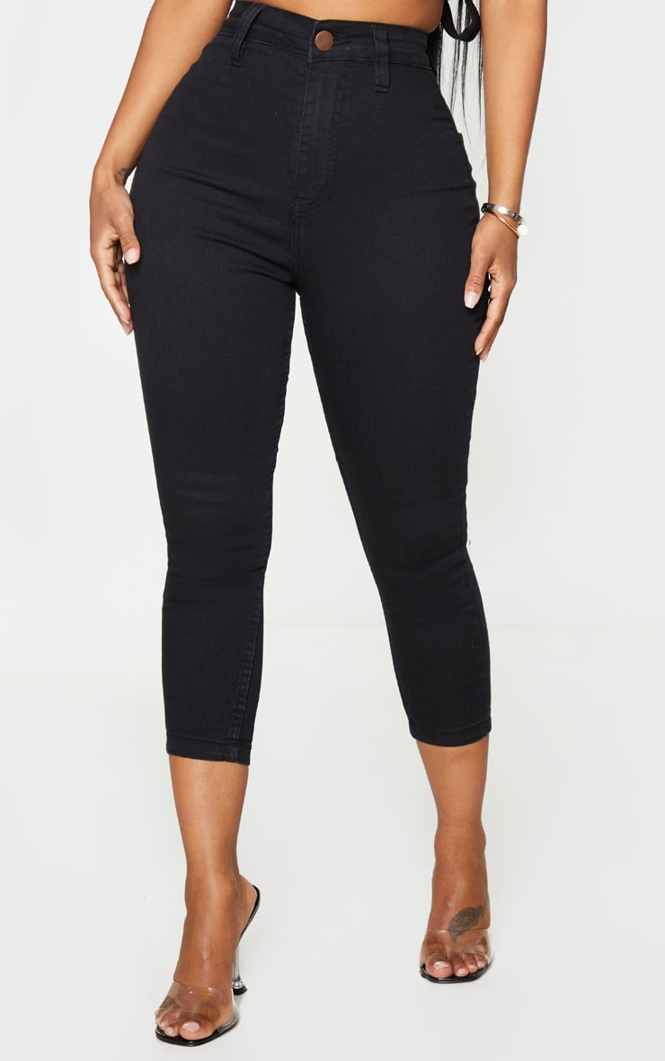 Shape Black High Waist Cropped Jeans 2