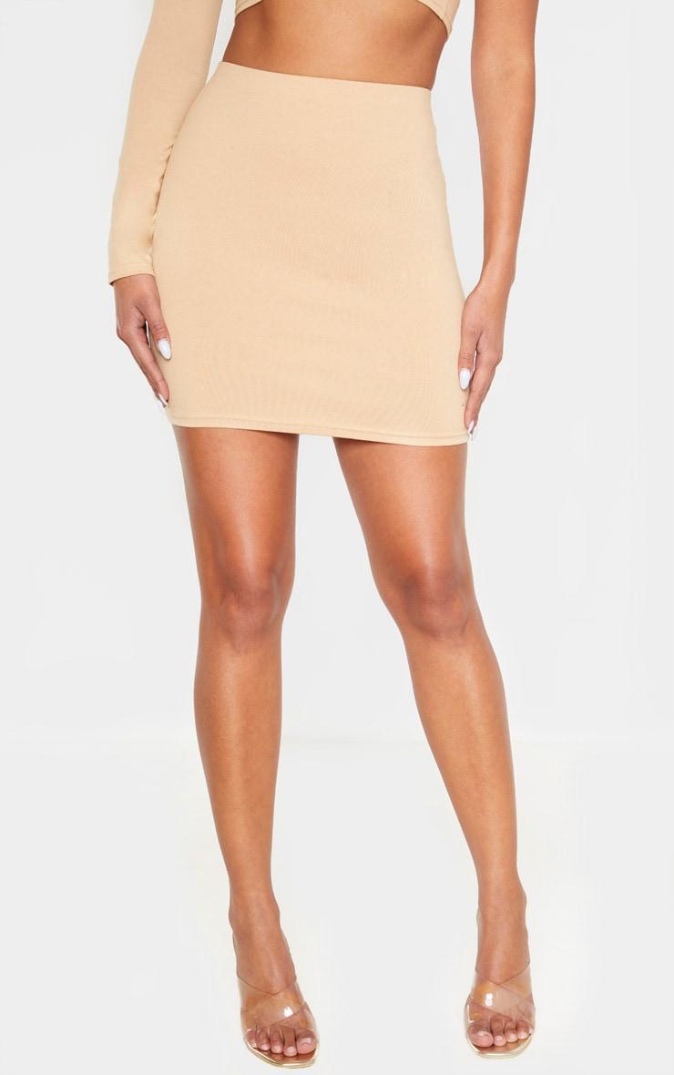 Biscuit Cotton Mini Skirt 2