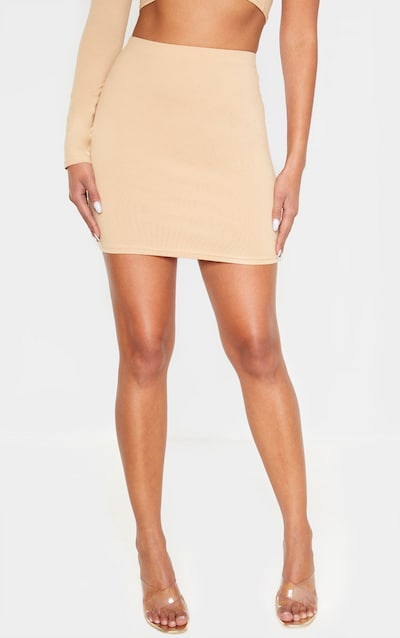 Biscuit Cotton Mini Skirt