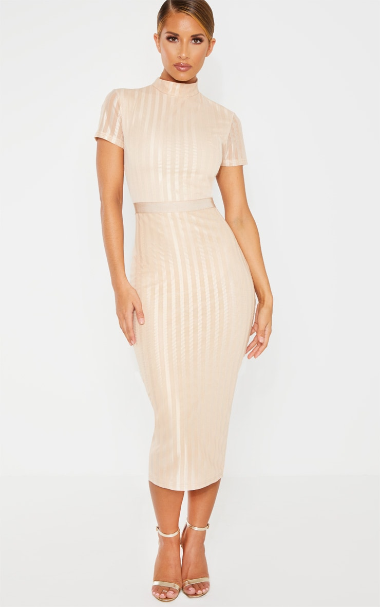 Stone Lined Short Sleeve Midi Dress 1