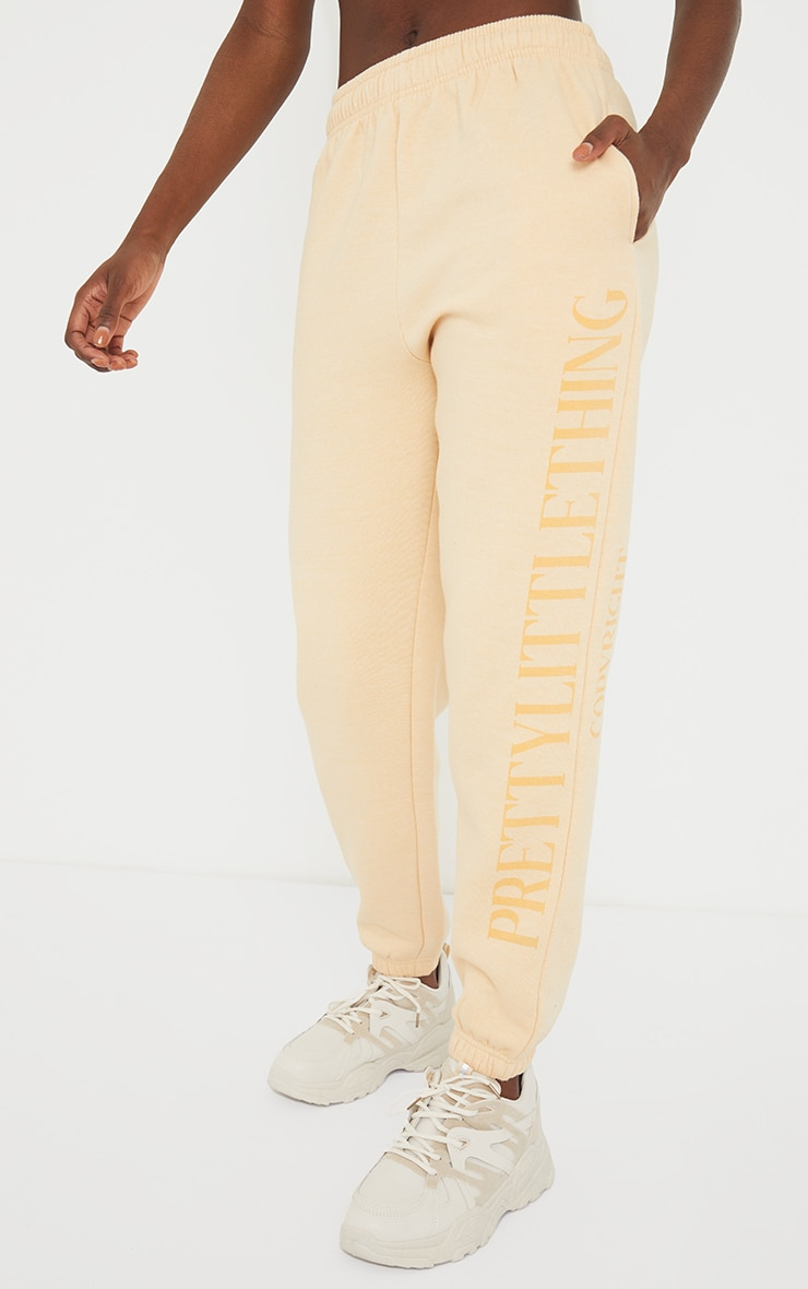 PRETTYLITTLETHING Tall Stone Copyright Joggers 2