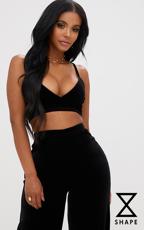 Shape Black Velvet Bralet 1