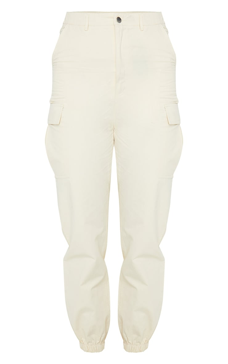 Cream Pocket Detail Cargo Pants 5