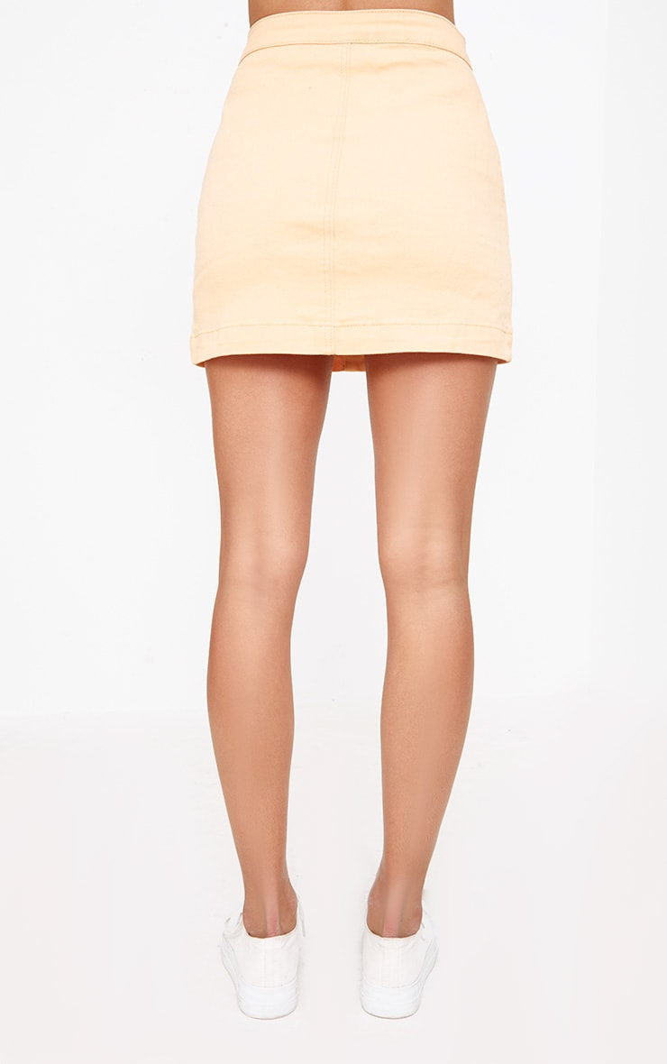 Orange Denim Skirt 3